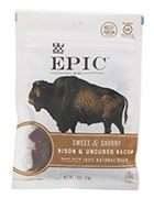 Bag of Epic bison jerky bites
