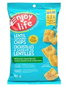 Bag of Enjoy Life Lentil Flavoured Chips Dill and Sour Cream Flavour