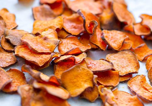 Sweet potato veggie chips