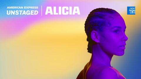 A photo of American Express' Unstaged event featuring Alicia Keys