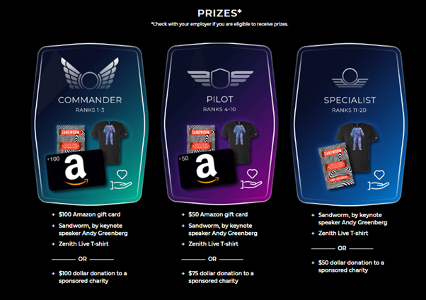 Part 3 of 3: A screenshot of the rewards page in Zenith Life