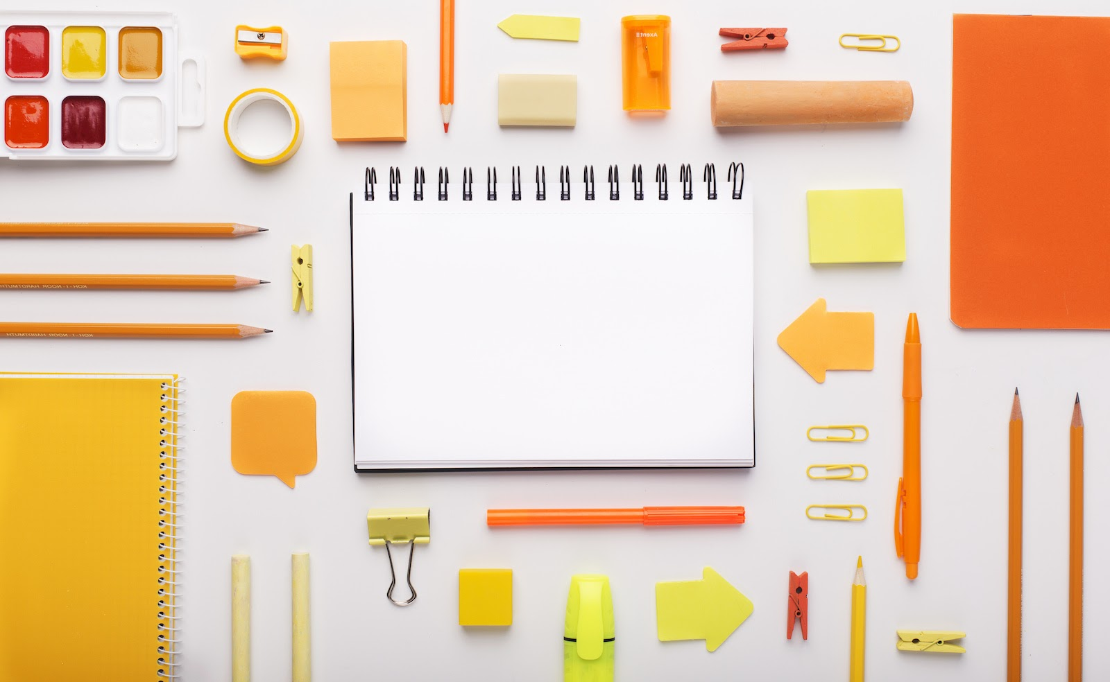 Colorful office supplies that employees can buy with a bulk gift card