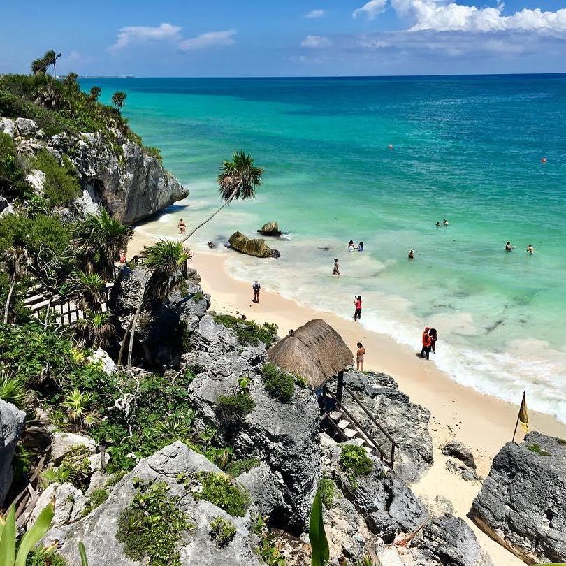 Tulum Quintana Roo Mayan ruins Cancun overlooking beach