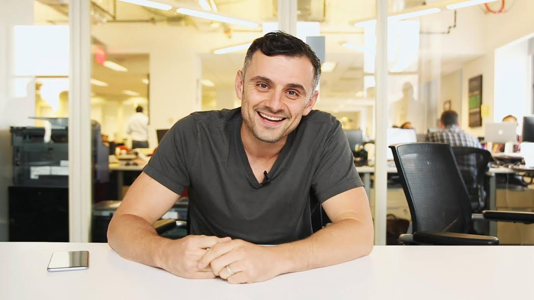Gary Vaynerchuk smiling at VaynerMedia offices in New York