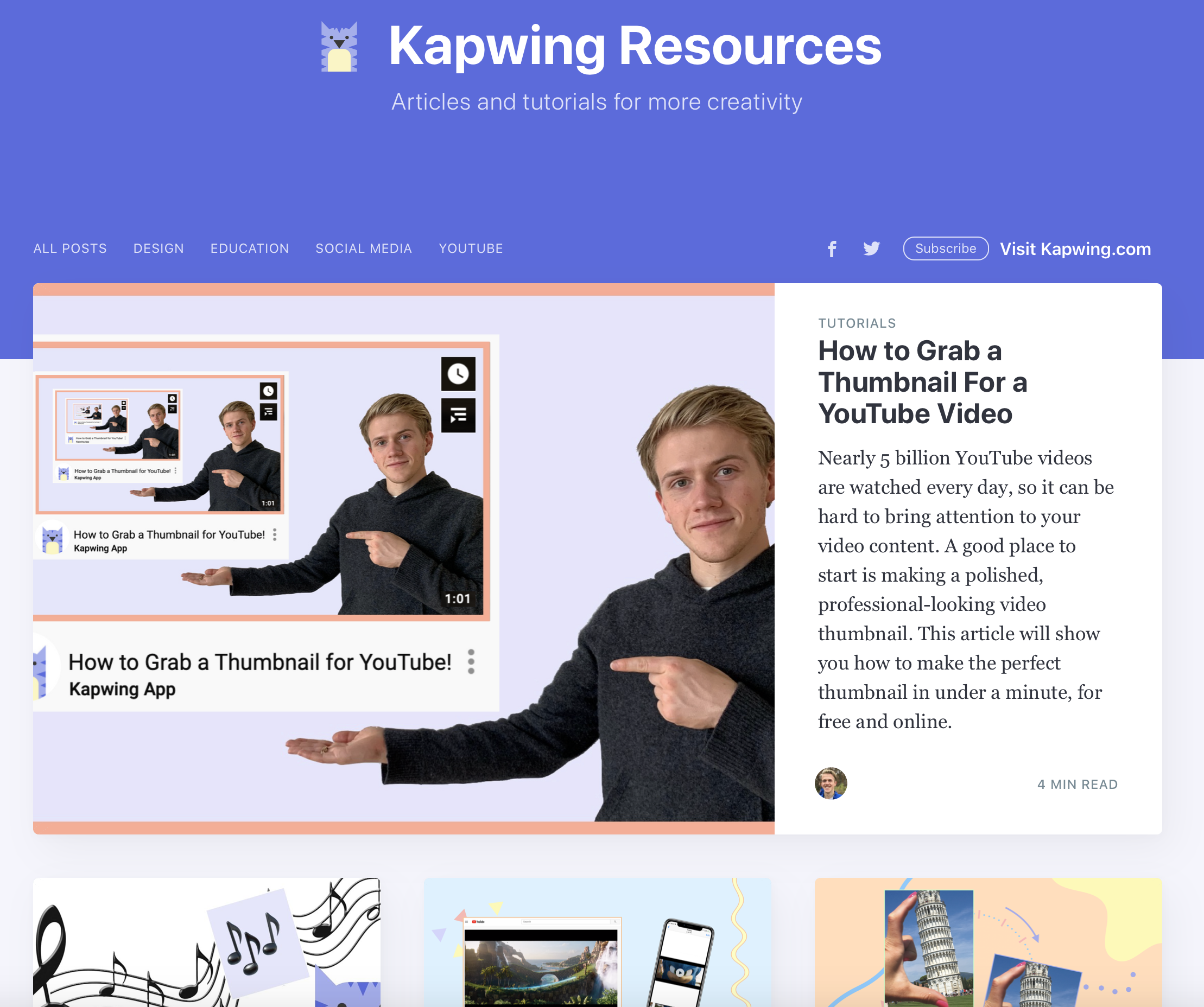 The Kapwing resources page