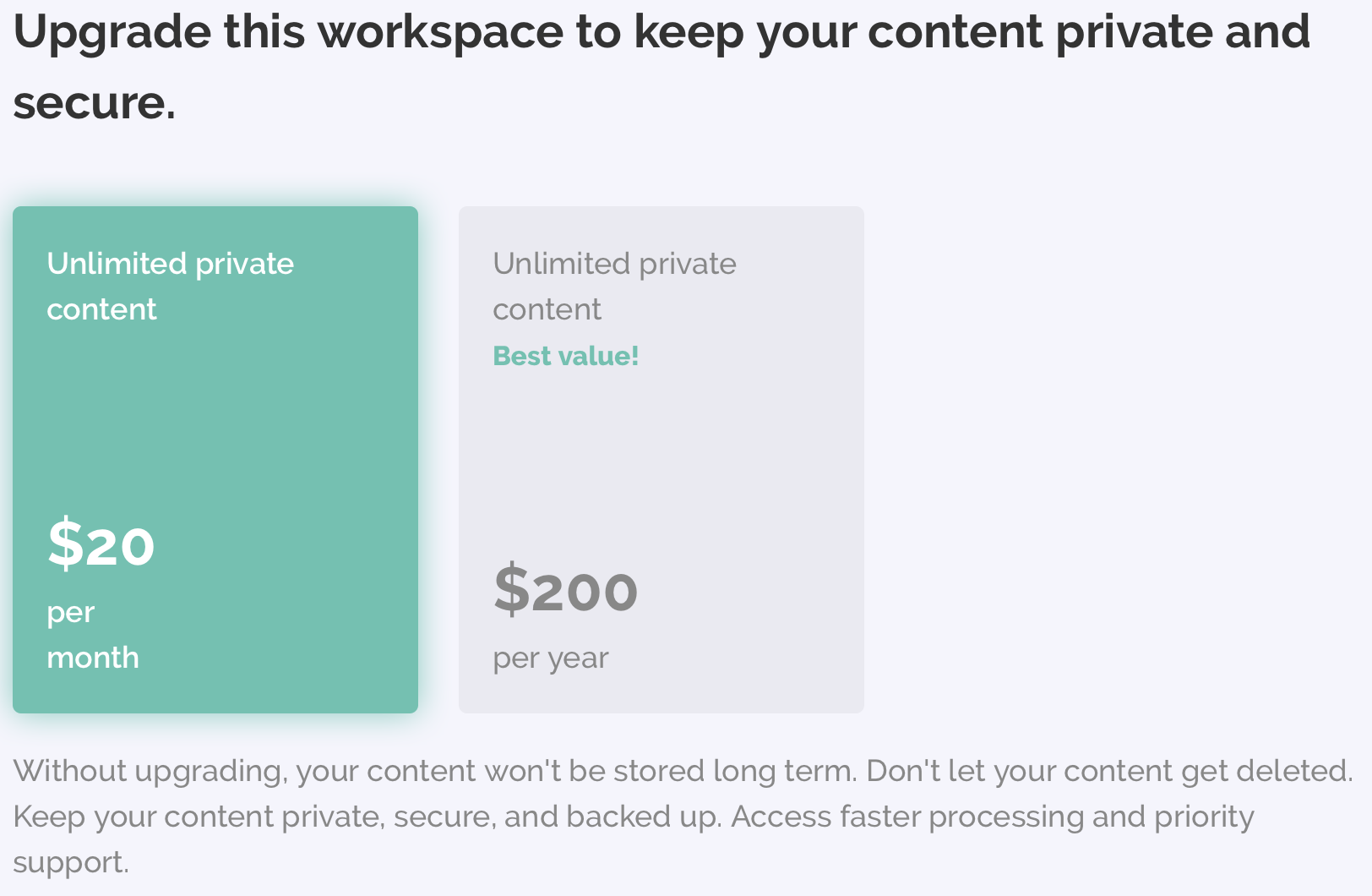 Kapwing requires a paid upgrade to privatize your content