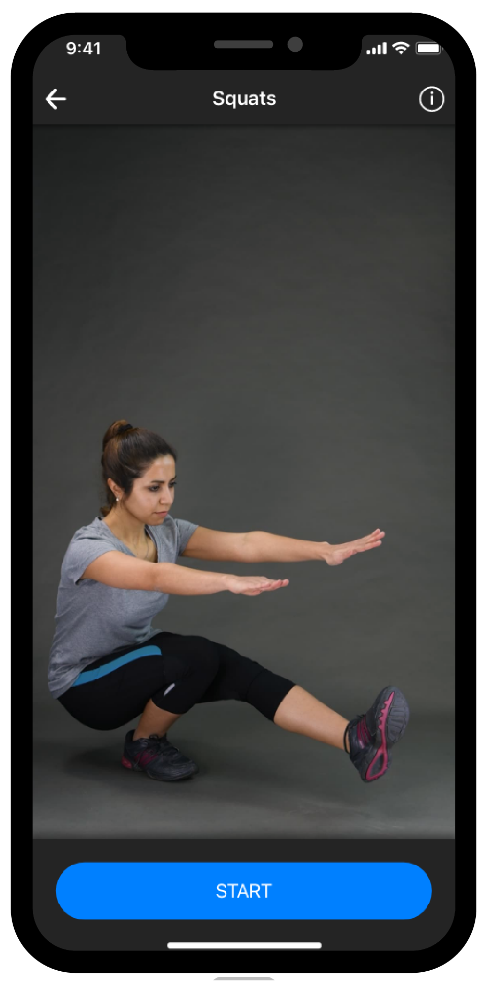 BestFit Home Fitness-App Workouts, Übungen, Squats