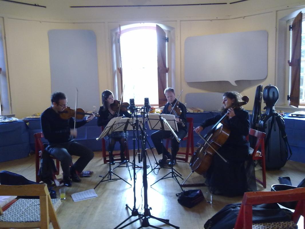 Recitative and Aria, Carducci Quartet in rehearsal, Prema Arts Centre Uley, January 2013