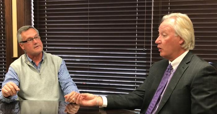 John Hockaday and Jeff Sams shooting a training video for short-term care