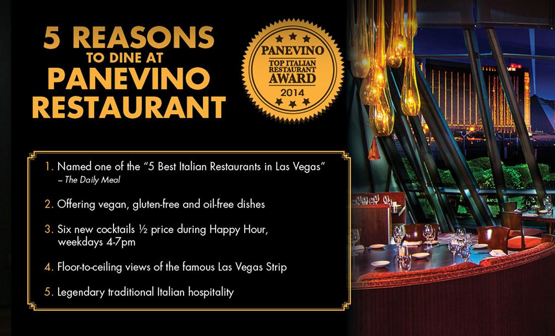 Panevino, Top Italian Restaurant Award 2014