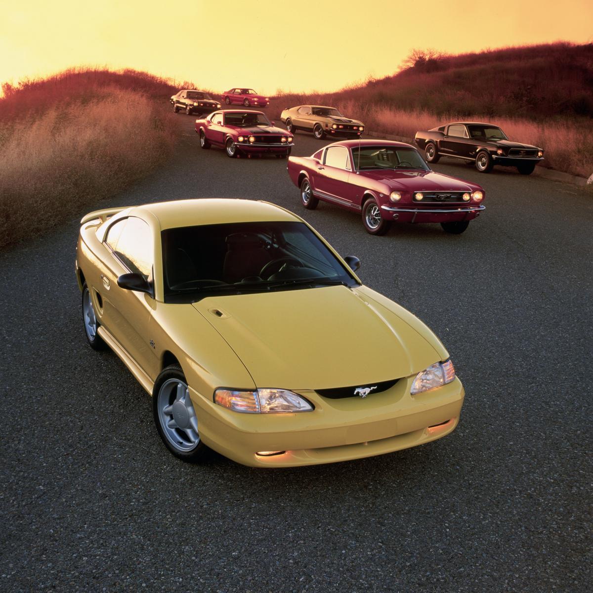 Multiple Mustang generations