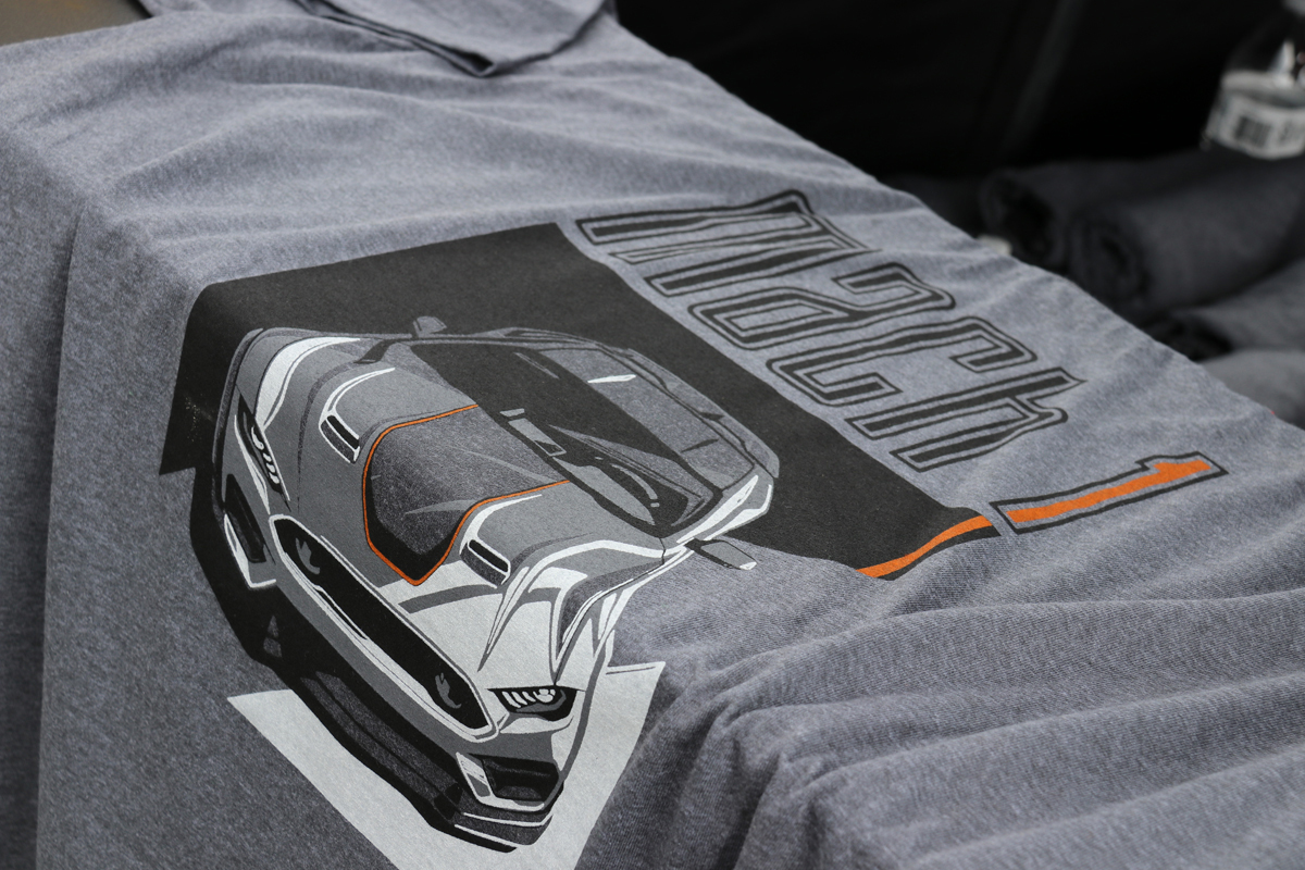 Ford Mustang Mach 1 on   t-shirt