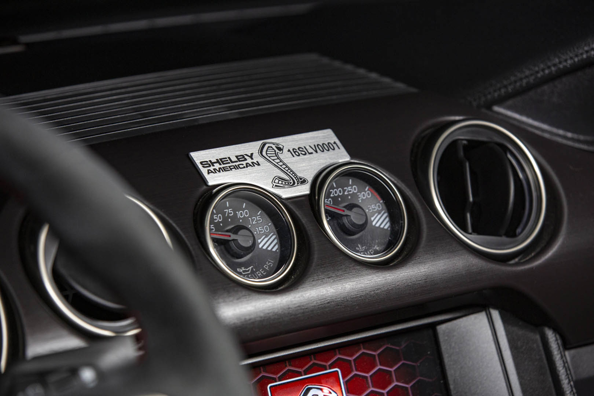 2020 Mustang Shelby GT500 dash plaque