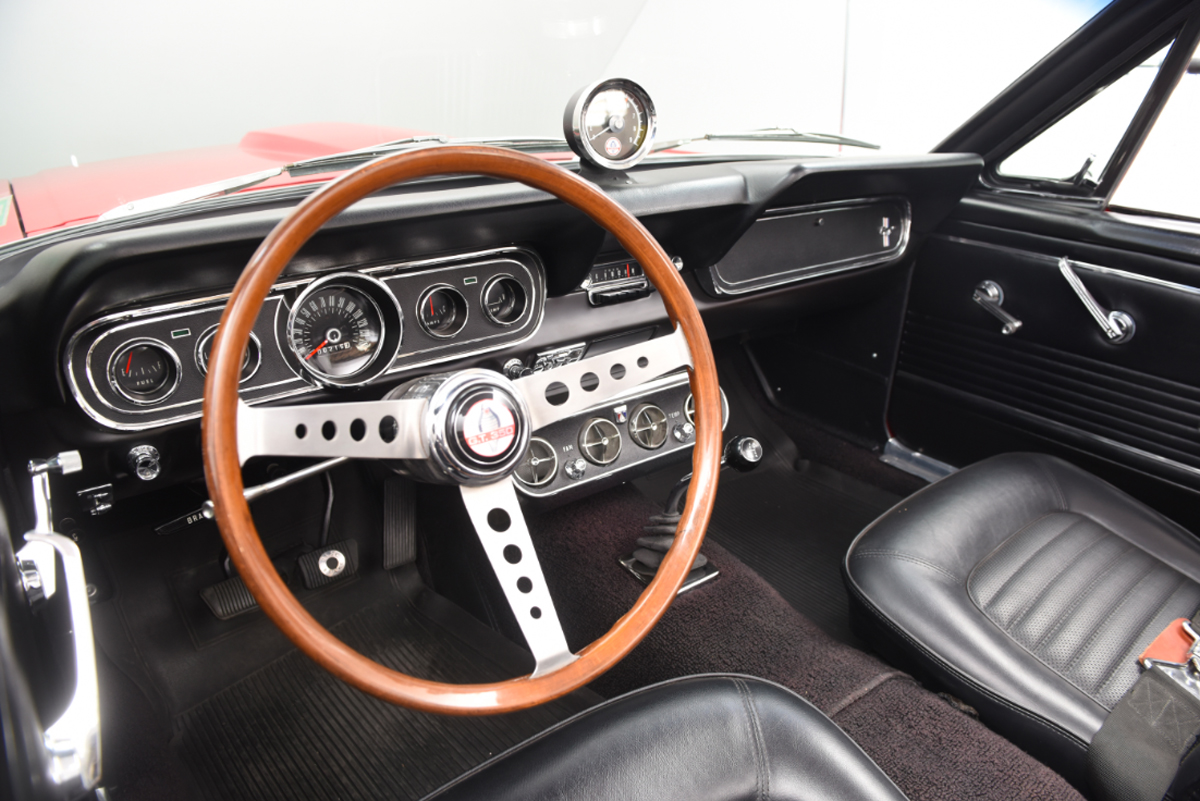 1966 Shelby convertible interior
