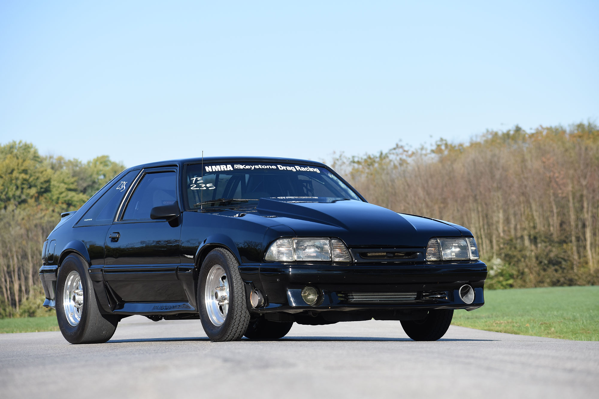 1988 Fox-body Mustang race car front