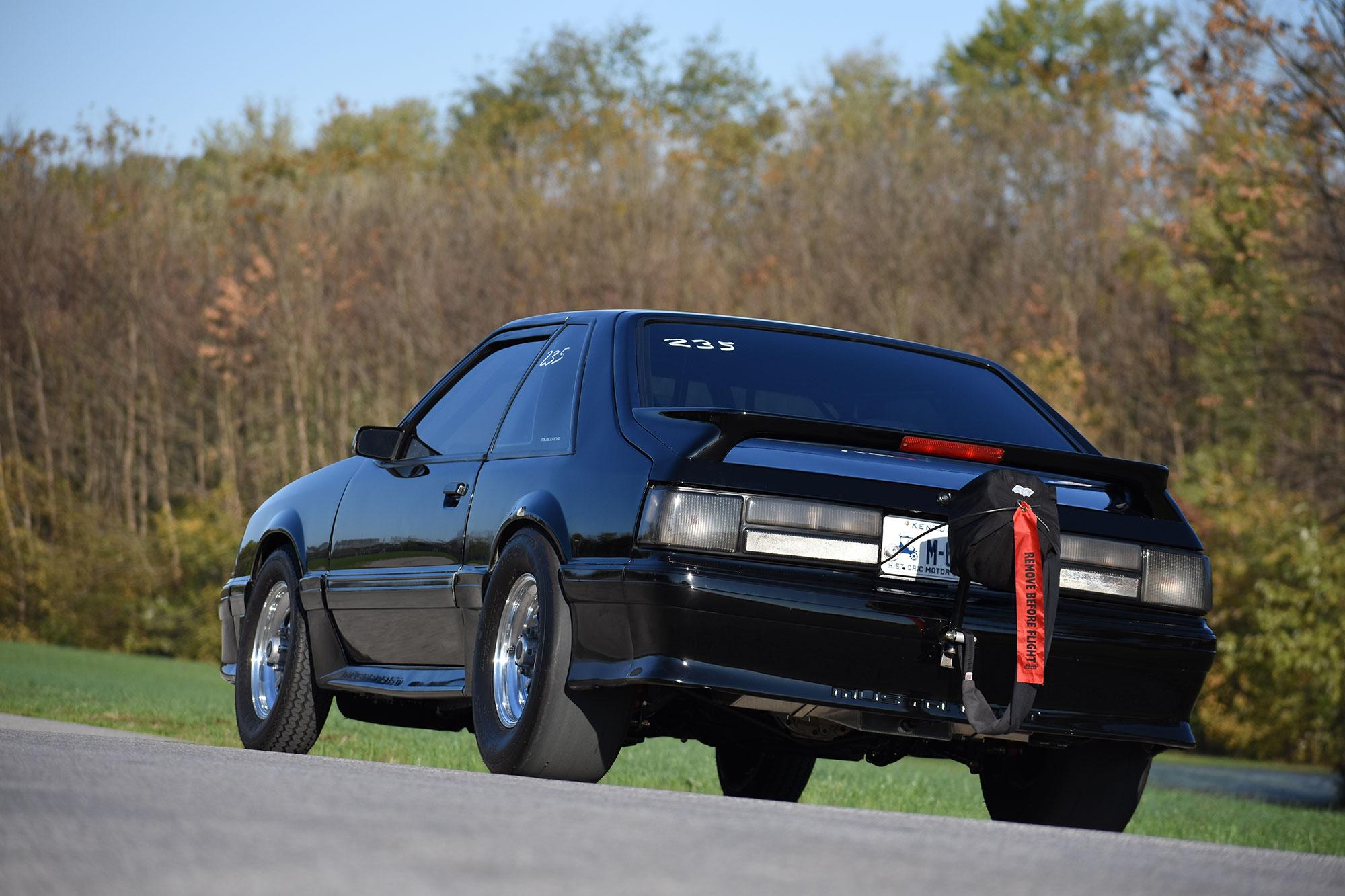 1988 Fox-body Mustang race car rear