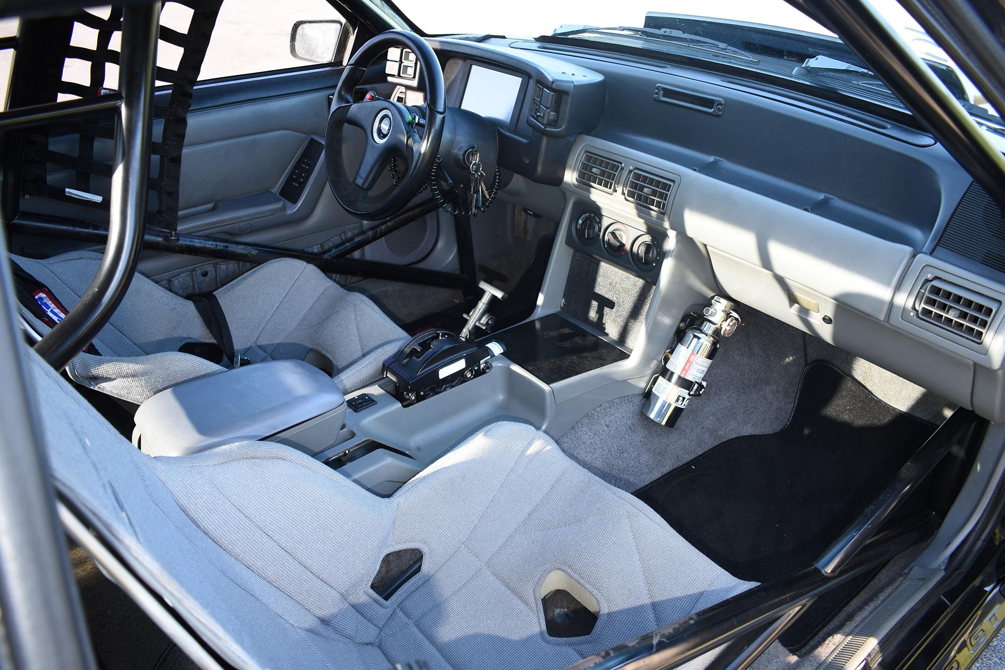 1988 Fox-body Mustang race car interior