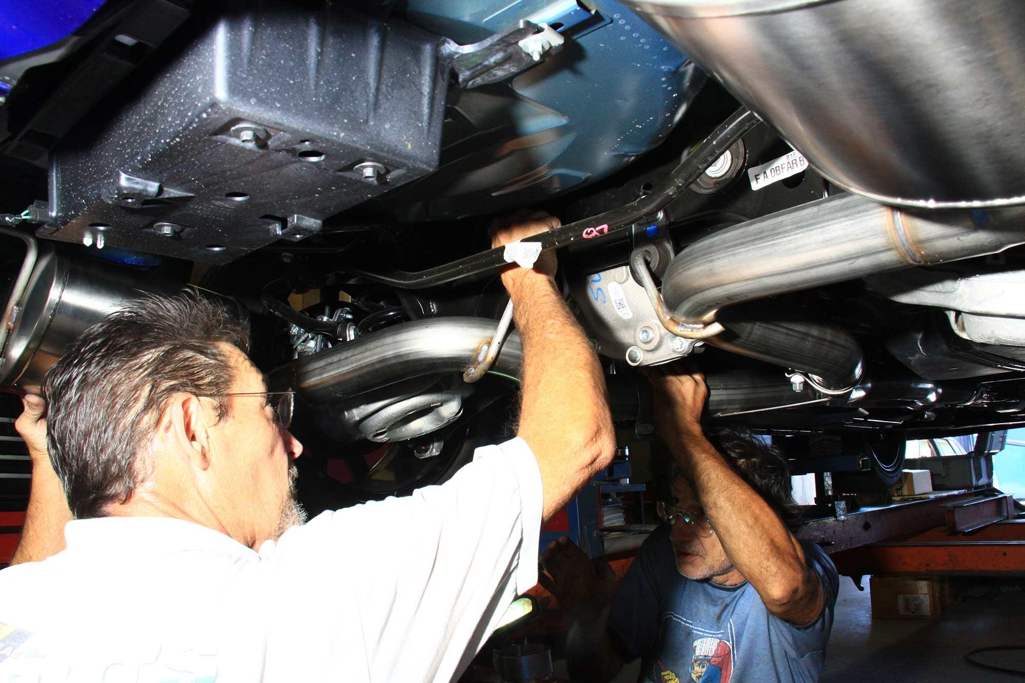 tighten the Corsa exhaust