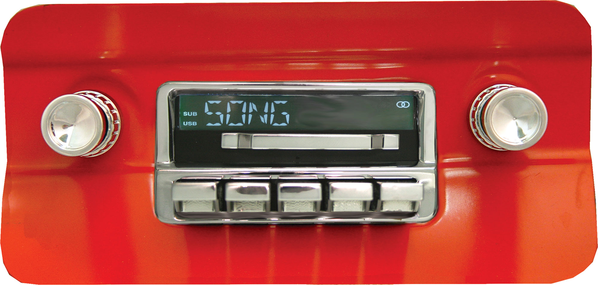 classic looking car stereo