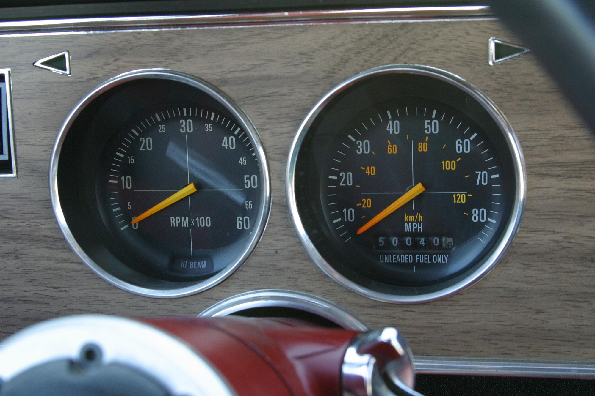 Mustang II dash