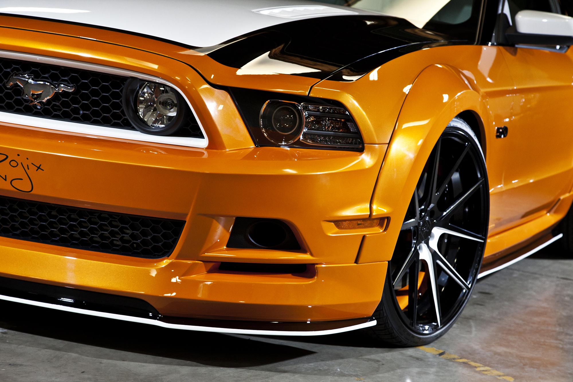 Bojix Mustang GT front corner detail
