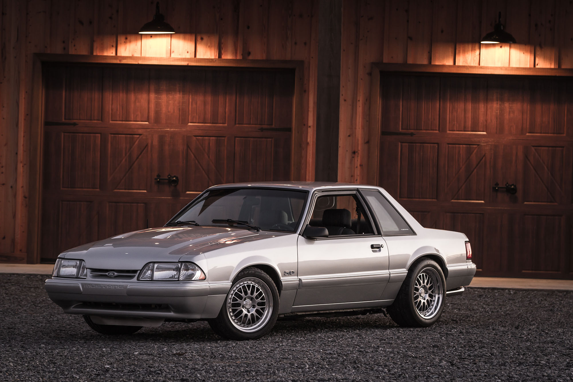 1991 Notchback Mustang front