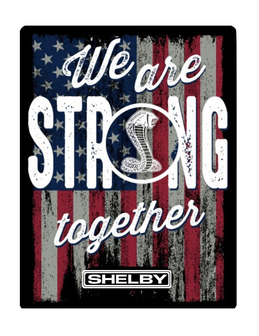 A We Are Strong Together decal