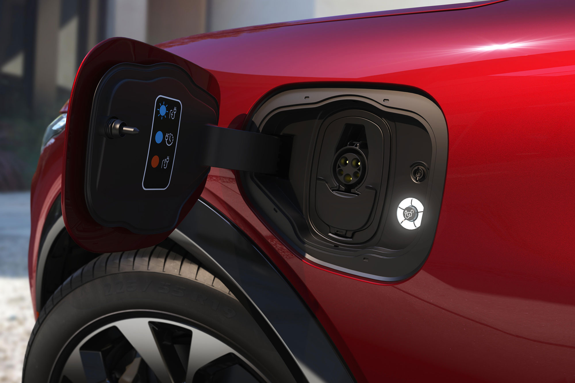 2021 Mustang Mach-e charging port