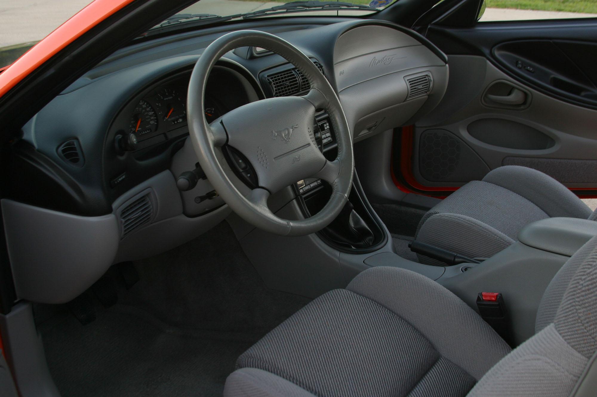 David and Jean's 1996 Mustang interior