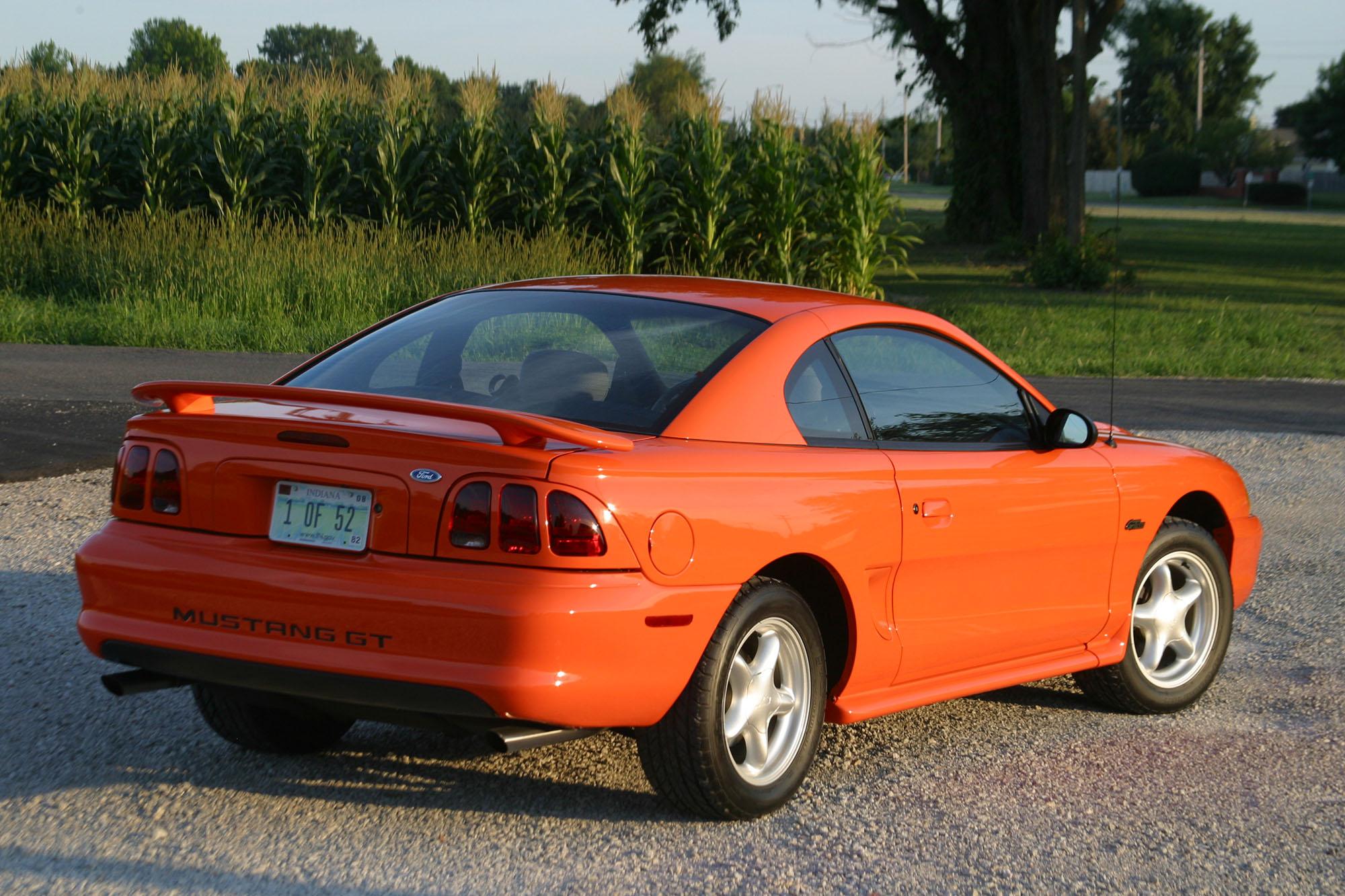 David and Jean's 1996 Mustang rear view