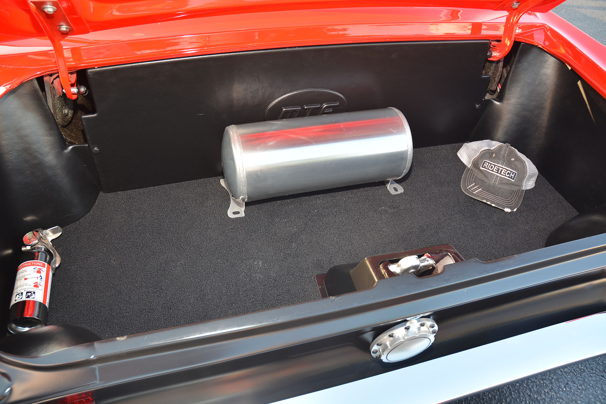 Small Air tank in trunk for air bags