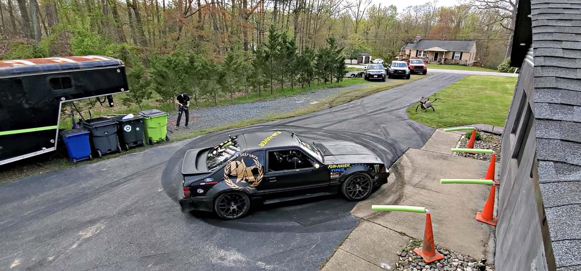 Vaughn Gittin Jr's fox body drift car