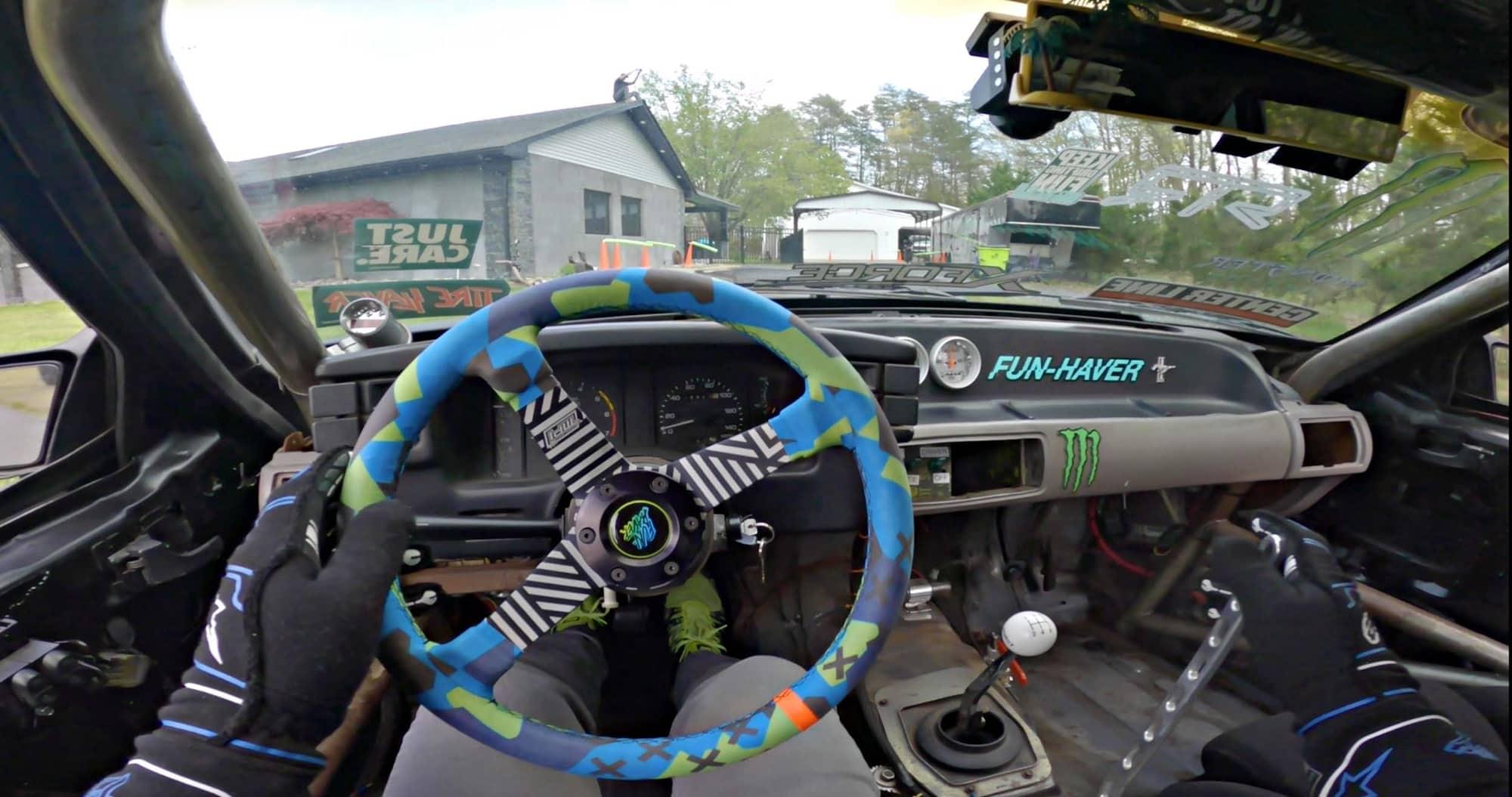 Vaughn Gittin Jr's drift car interior