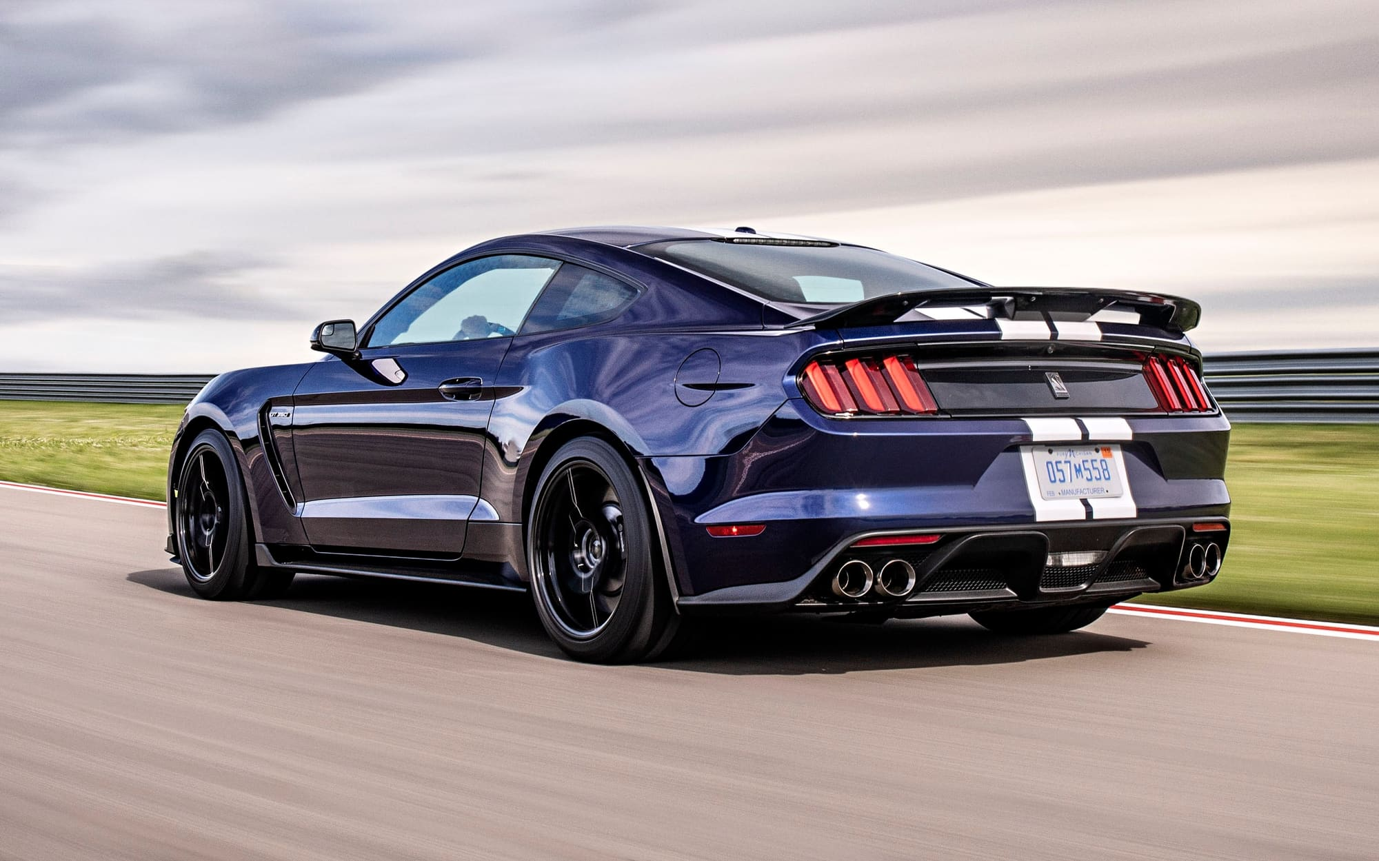 2020 Shelby GT500 side view on road course