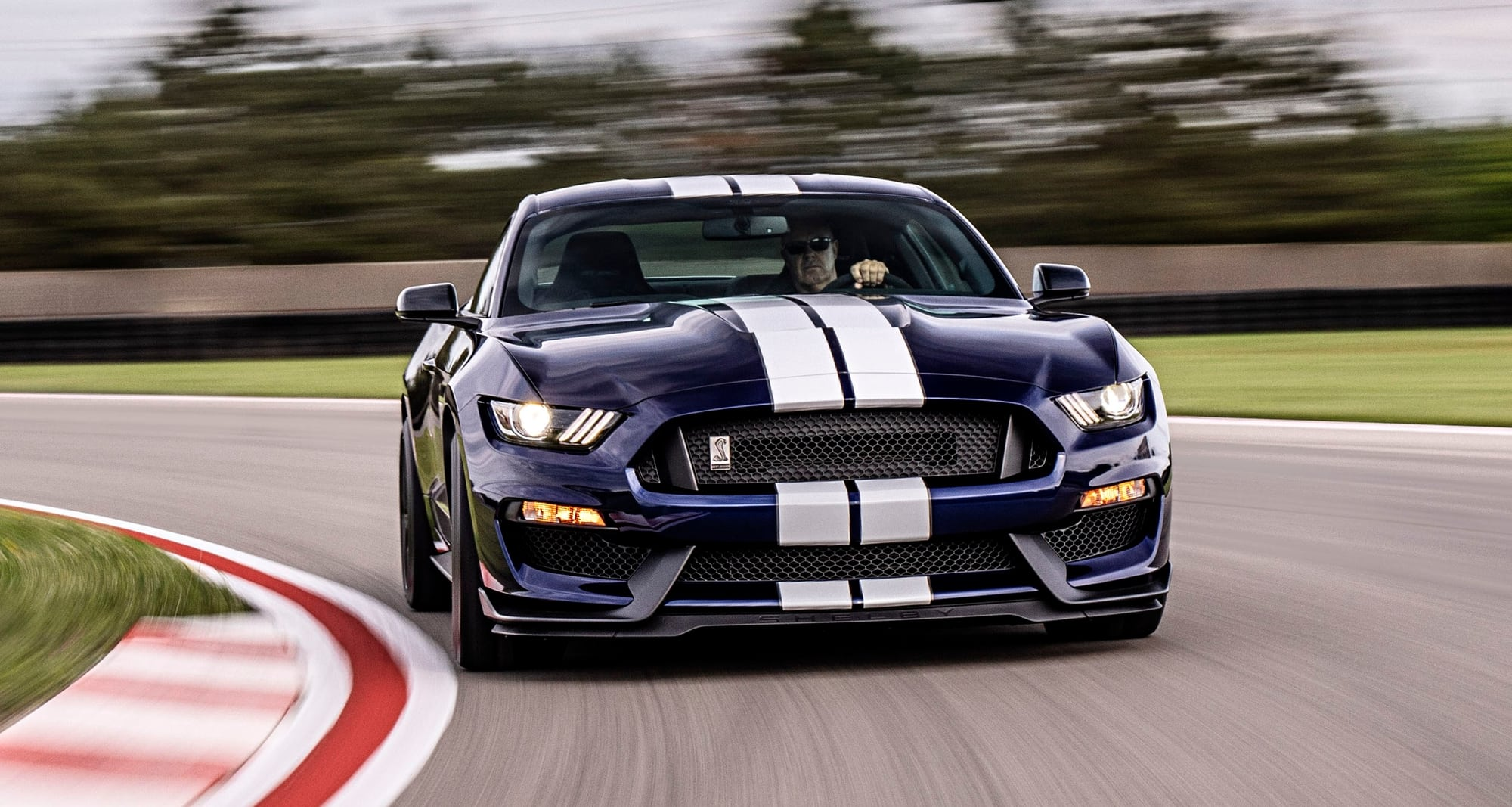 2020 Shelby GT500 front view on road course