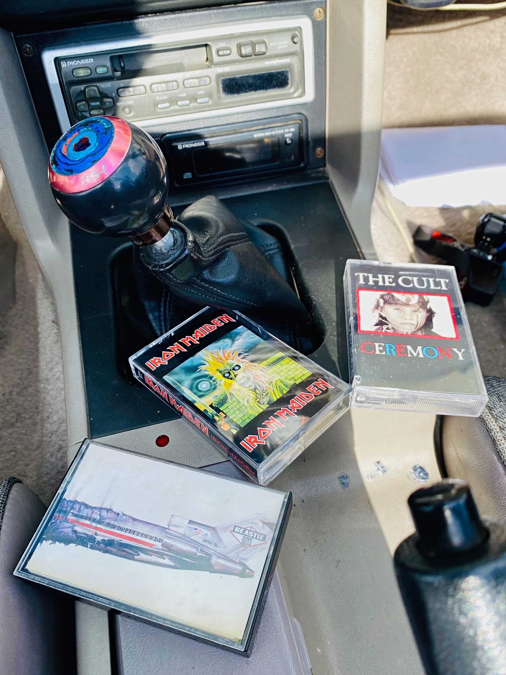 misc tapes left inside car