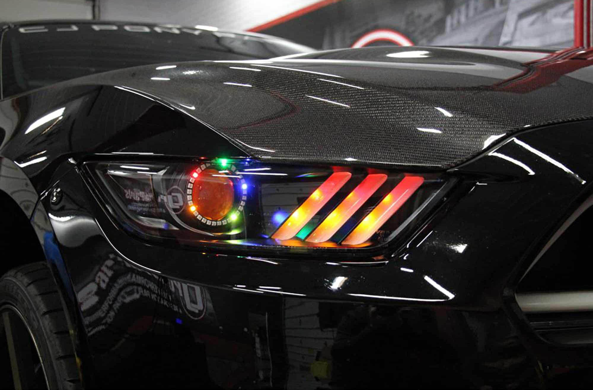 Oracle S550 headlights with Colorshift