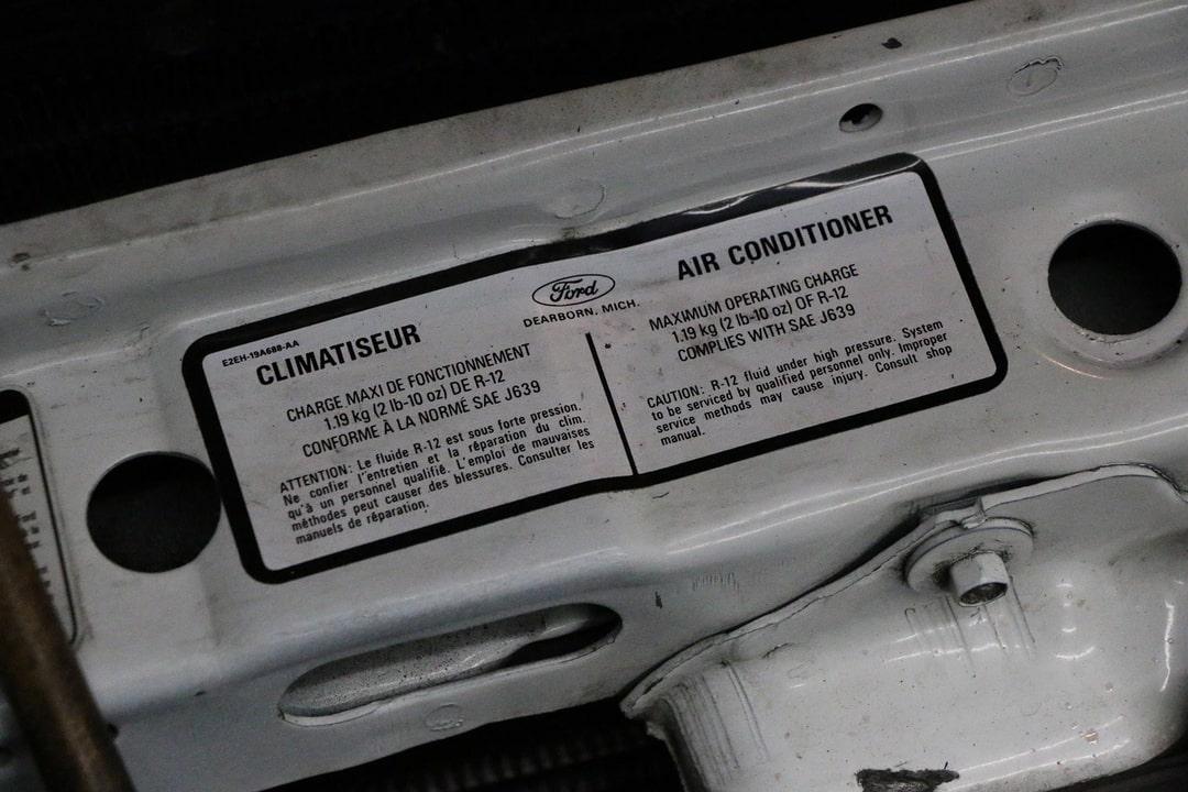 AC sticker under hood