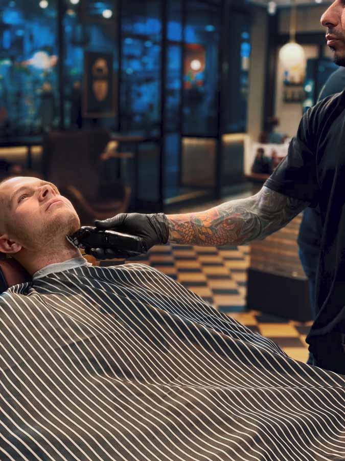 Mens Grooming at the barbershop