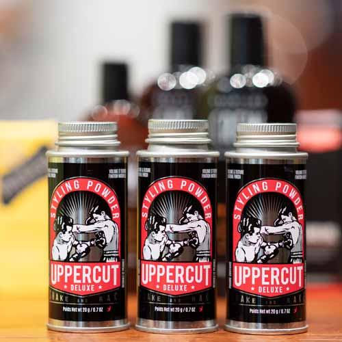 Uppercut Deluxe - Styling Powder on the shelf in Barbershop
