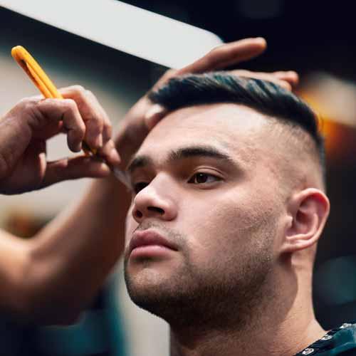 Customer in Barbershop in Preston NSW