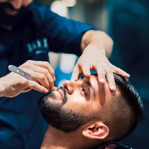 Customer in Roselands Barbershop NSW