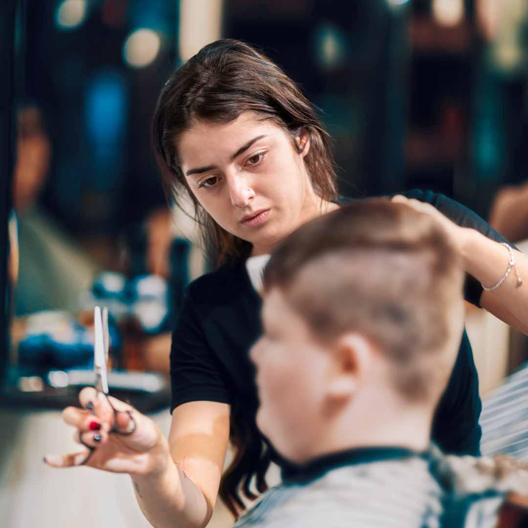 Female Barber - Laura at Barber Industries Charlestown