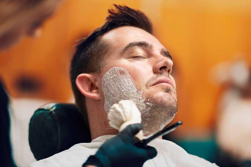 Applying Shaving Soap With Shaving Brush