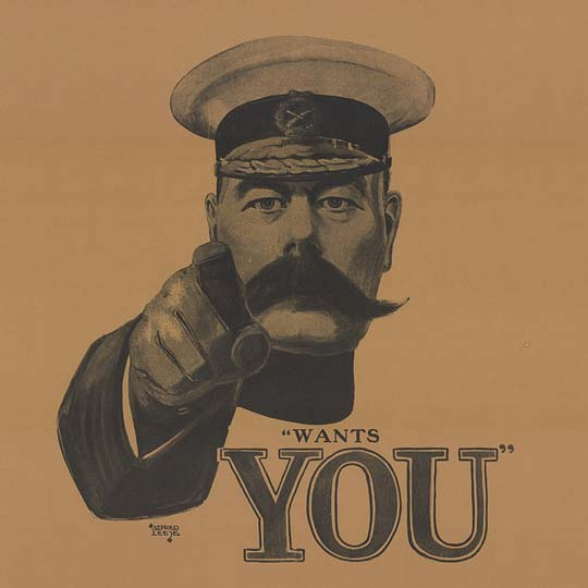British Army Soldiers had to grow moustaches as part of the uniform from 1860 to 1916.