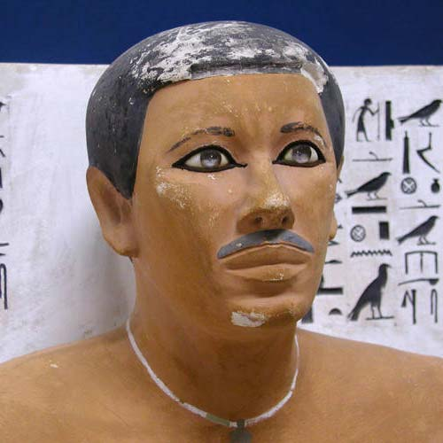 Egyptian Prince Rahotep - The earliest evidence of a moustache that we could find.