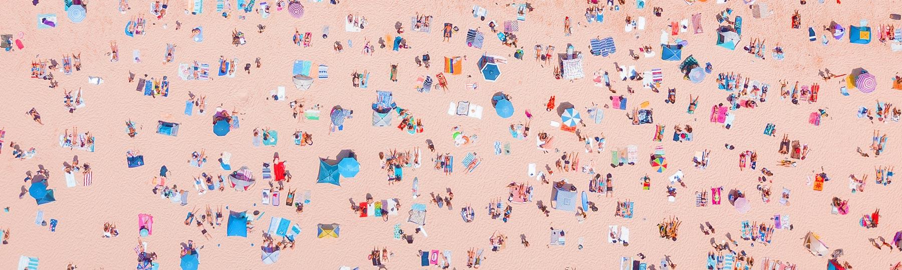 Aerial photo of Bondi Beach, NSW, Australia