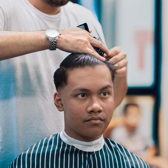 Sydney Barbers - Low fade hairstyle