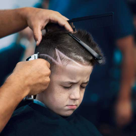 haircut with pattern for young boys