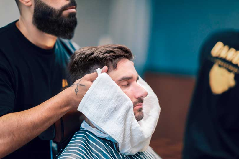 Hot towel with the best barbers in Perth